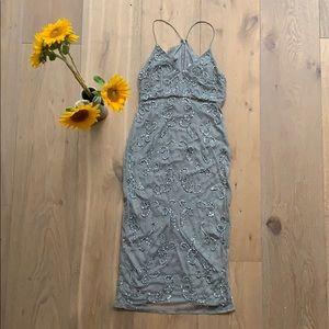 ASOS formal midi dress gown BNWT US 2